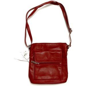 🎄NWT!🎄Giani Bernini Red Leather Cross Body Purse